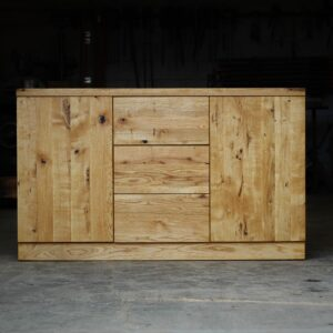 Natural solid oak chest of drawers