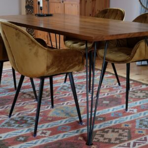 Rustic Table on Hairpin Legs