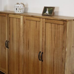 Rustic solid oak dresser base