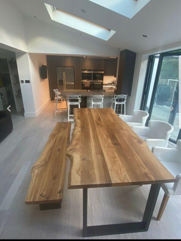 rustic solid oak table