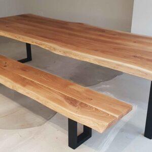 Rustic Solid Oak Bench